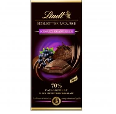 Lindt 黑加侖果餡70%巧克力 EDELBIT...