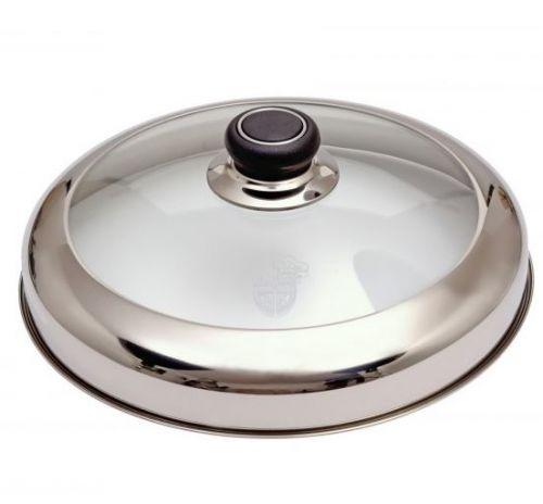 德國GRÄWE 27cm生鐵煎鍋專用玻璃高鍋蓋 D...